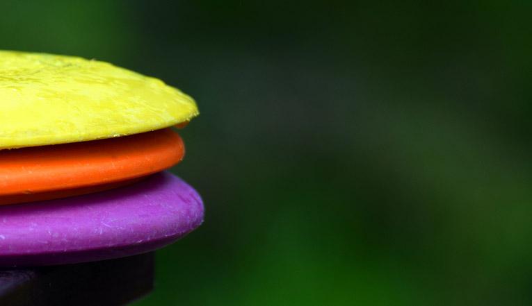 three color disc golf