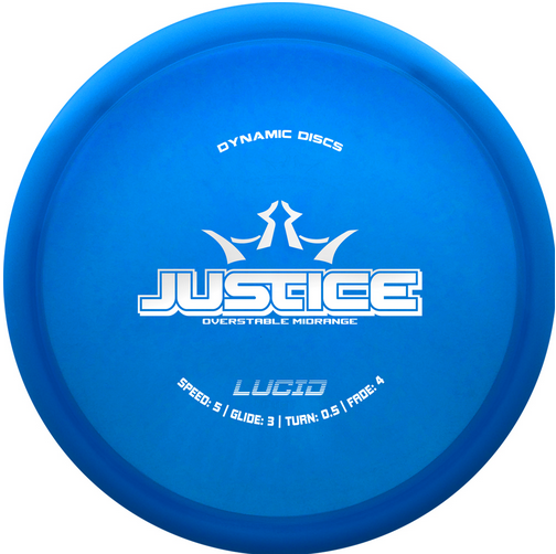 Dynamic Discs Justice Overstable Forehand midrange