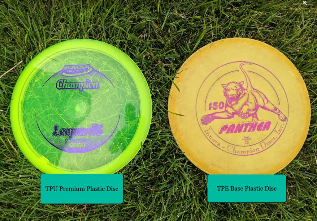 Base Plastic vs Premium plastic disc